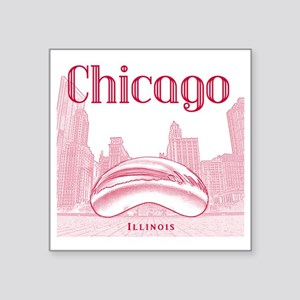 "Chicago_10x10_ChicagoBeanSk Square Sticker 3"" x 3"""