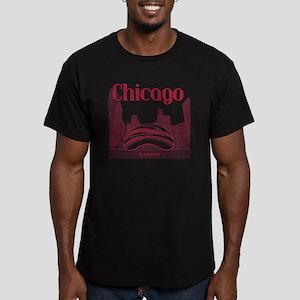 Chicago_10x10_ChicagoB Men's Fitted T-Shirt (dark)