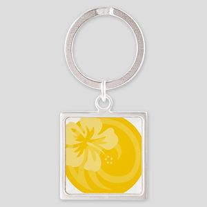 Yellow T Shirt Square Keychain