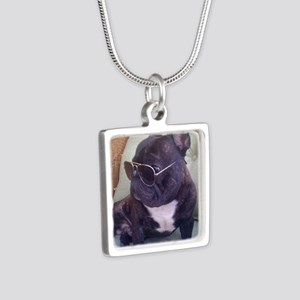 Authority Silver Square Necklace