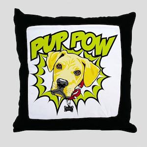 Pup Pow Throw Pillow