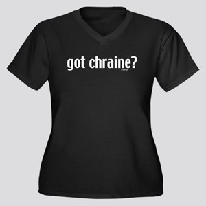 Got Chraine? Women's Plus Size V-Neck Dark T-Shirt