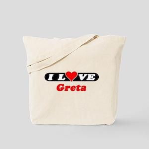 I Love Greta Tote Bag