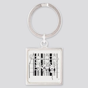 Were we Started Square Keychain