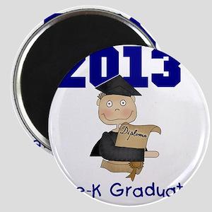 2013 Boy Pre-K Graduate Magnet