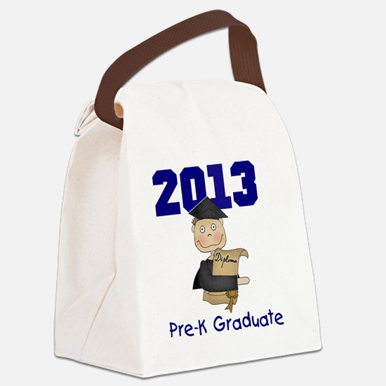 2013 Boy Pre-K Graduate Canvas Lunch Bag