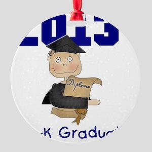 2013 Boy Pre-K Graduate Round Ornament