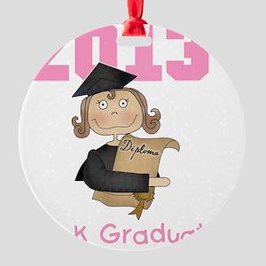 Girl 2013 Pre-K Graduate Round Ornament