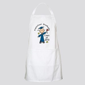 Stick Figure Boy 2013 Preschool Grad Apron