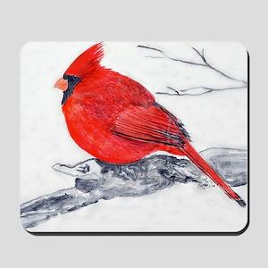 Red Cardinal Painting Mousepad