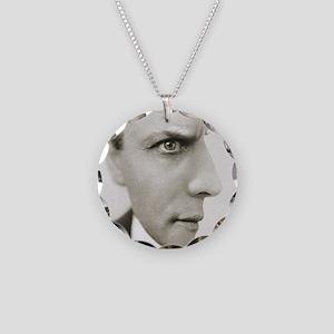 Houdini Optical Illusion Hor Necklace Circle Charm