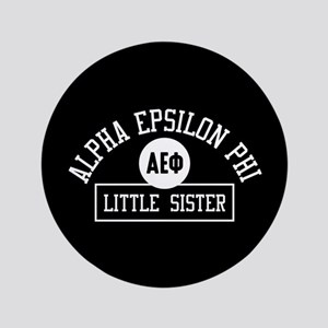 """Alpha Epsilon Phi Little Sister Athlet 3.5"""" Button"""