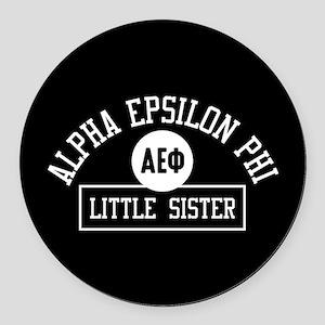 Alpha Epsilon Phi Little Sister A Round Car Magnet