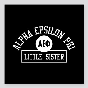 "Alpha Epsilon Phi Little Square Car Magnet 3"" x 3"""