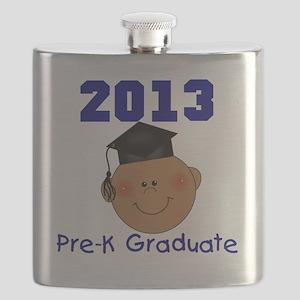 2013 African American Boy Pre-K Graduate Flask