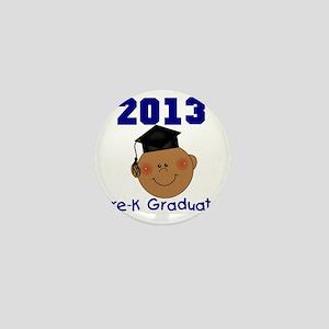 2013 African American Boy Pre-K Gradua Mini Button