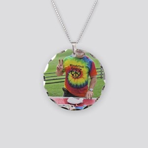 Peace at Woodstock Monument Necklace Circle Charm