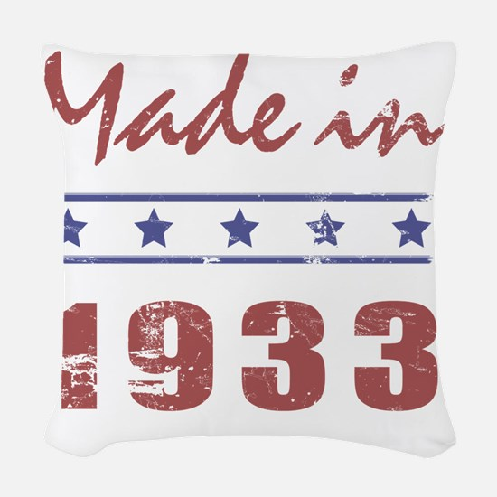 Made In 1933 Woven Throw Pillow