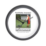 Yard Safety Awareness Wall Clock