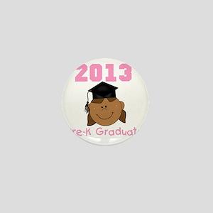 2013 African American Girl Pre-K Gradu Mini Button