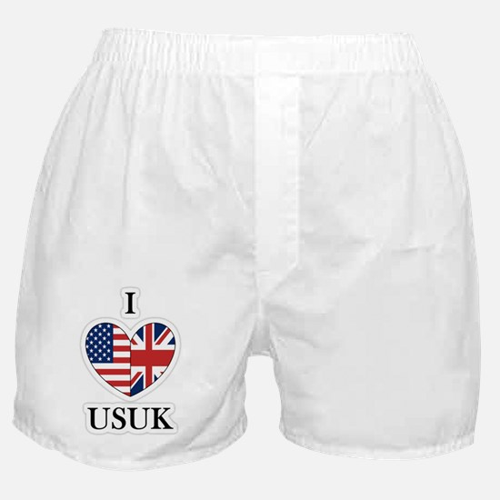 I Heart USUK Boxer Shorts