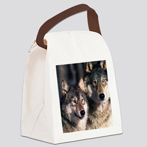 two wolf Canvas Lunch Bag