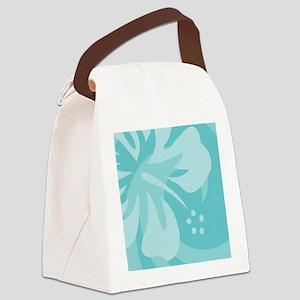 Aqua 60 Curtains Canvas Lunch Bag
