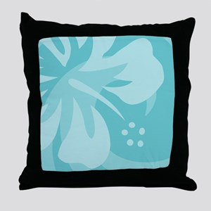Aqua 60 Curtains Throw Pillow