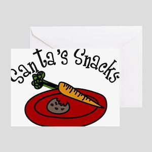 Santa's Snacks Greeting Card