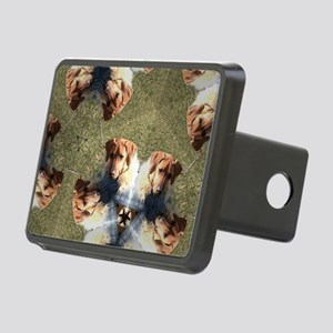 RR puppy in blue coat 2- K Rectangular Hitch Cover