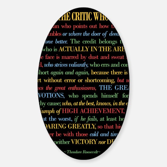 The Critic Sticker (Oval)