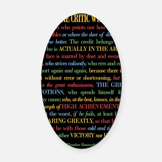 The Critic Oval Car Magnet