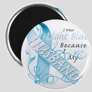 I Wear Light Blue Because I Love My Husband Magnet