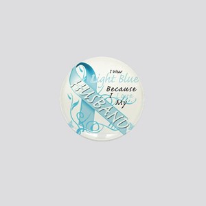 I Wear Light Blue Because I Love My Hu Mini Button