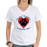 Touch Your Heart Women's V-Neck T-Shirt