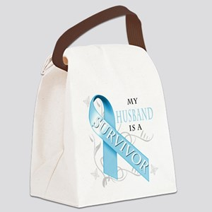 My Husband is a Survivor Canvas Lunch Bag
