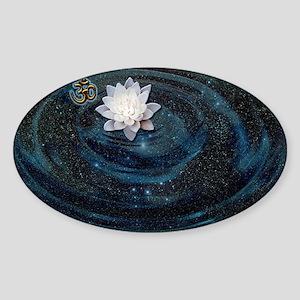 OM Lotus Sticker (Oval)