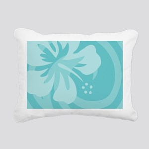 Aqua 5 X 7 Area Rug Rectangular Canvas Pillow