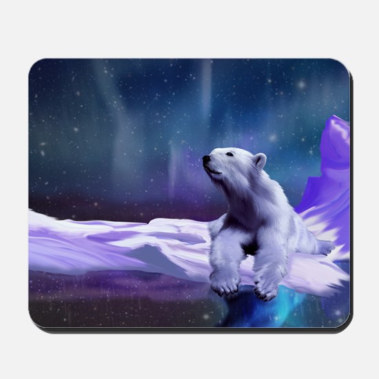 Contemplative Polar Bear Mousepad