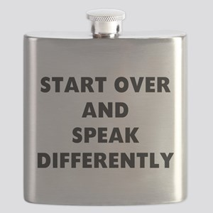 RON SWANSON QUOTE Flask