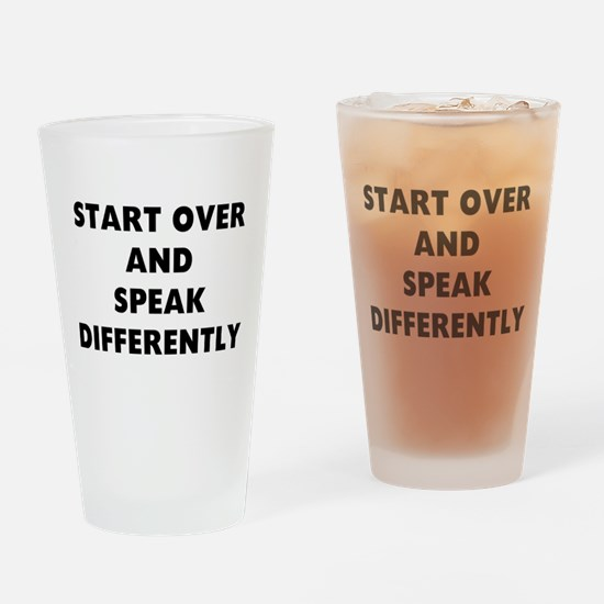 RON SWANSON QUOTE Drinking Glass
