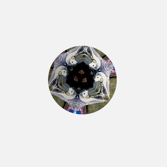 SALUKI 1 - KALEIDASCOPE Mini Button