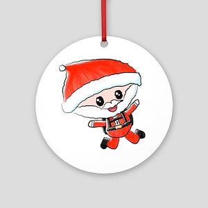 Skydiving Santa Ornament (Round)