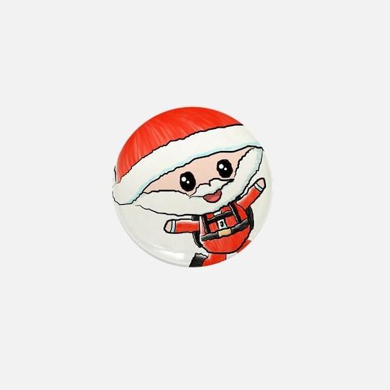 Skydiving Santa Mini Button