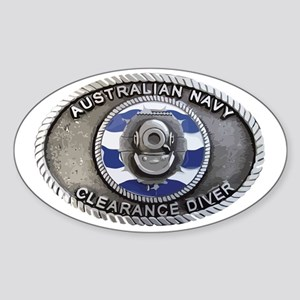 RAN Clearance Diver badge Sticker (Oval)