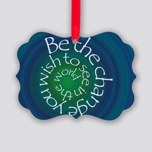 Be the Change Picture Ornament