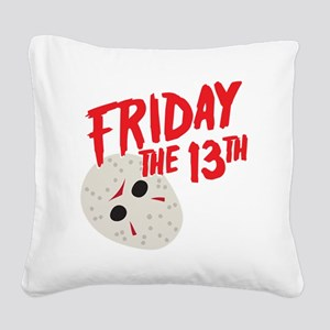 friday mask Square Canvas Pillow