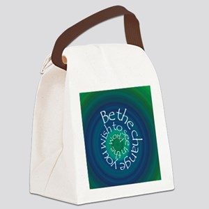 Be the Change Canvas Lunch Bag