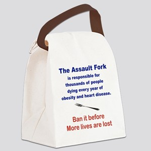 THE ASSAULT FORK... Canvas Lunch Bag