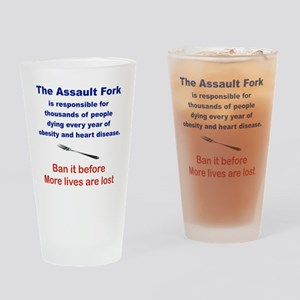 THE ASSAULT FORK... Drinking Glass